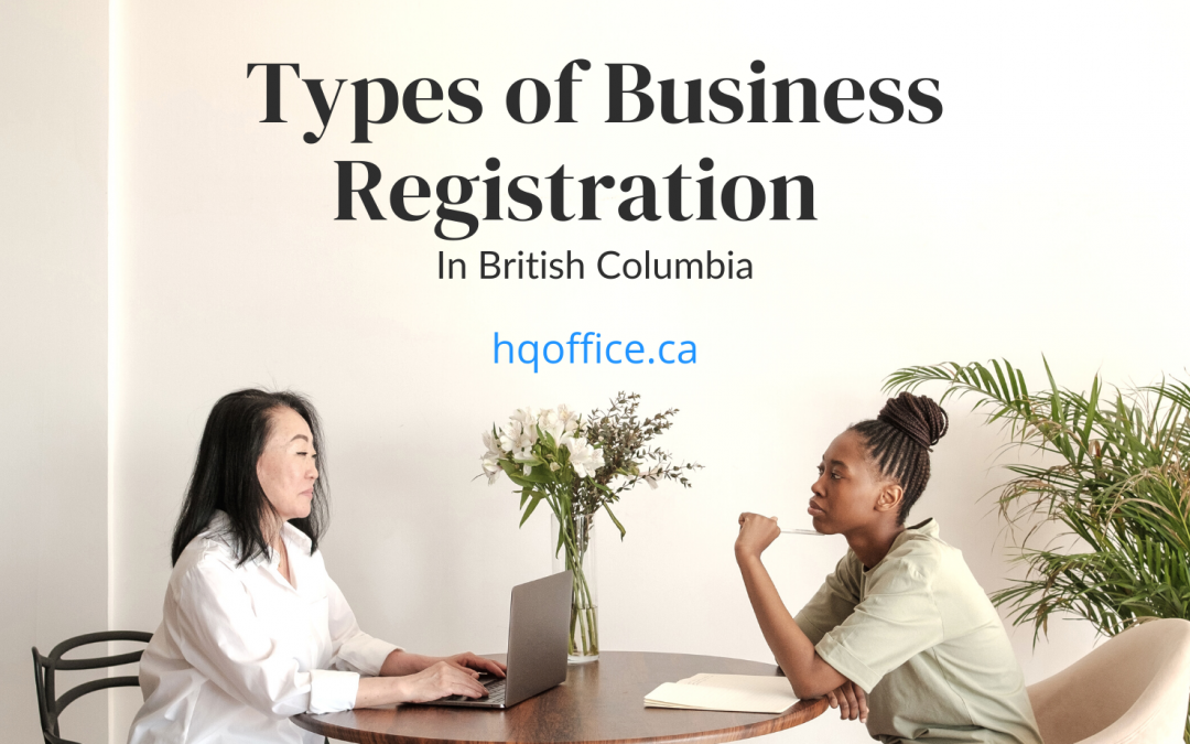 Types of Business Registration In BC